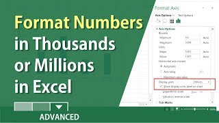 Excel: How to format numbers in thousands or millions by Chris Menard