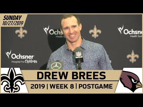 Drew Brees Postgame Reactions After Win vs Cardinals in Week 8 | New Orleans Saints Football