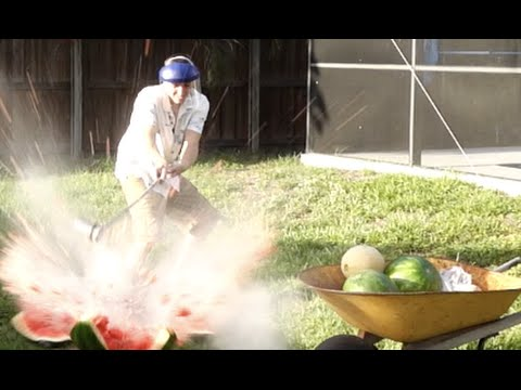 Pouring Molten Salt in Watermelons!