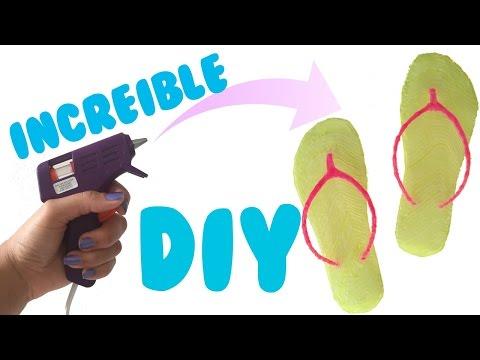 Haz Chanclas de Silicona Caliente   DIY Sandalias/Zapatos de Silicon