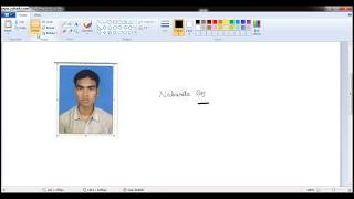 How to make Perfect size Photo & Signature in Paint for online JOB Application?