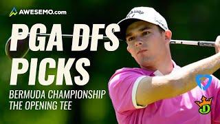 2020 BERMUDA CHAMPIONSHIP   PGA DFS Opening Tee   PGA Picks & Predictions