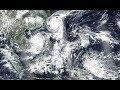 5 tempêtes tropicales barattage dans nos océans/Grand typhon formant derrière Talim & Doksuri 13/09/2017