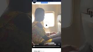 HILARIOUS: NIGERIAN LADY ENTERS AN AIRPLANE FOR THE FIRST TIME