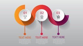 Illustrator CC Tutorial | 3D Graphic Design | Infographic Design Template 04