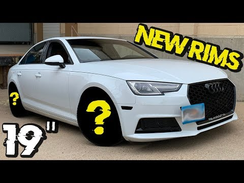 Turning a 2017 Audi A4 B9 into an RS4 Look - New Wheels // Simple Mods on a Car Part 3