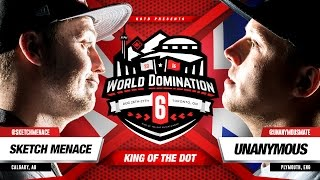 KOTD - Rap Battle - Sketch Menace vs Unanymous | #WD6ix