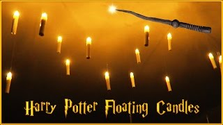 DIY HARRY POTTER FLOATING CANDLES | Magical LED Decoration