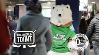 """Чем заняться между периодами - Топи за """"Ак Барс"""" вместе с медведем!"""
