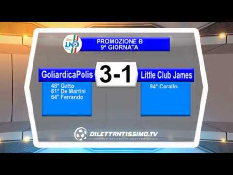 GOLIARDICAPOLIS - LITTLE CLUB JAMES 3-1 - Promozione B, 9ª giornata