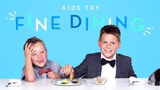 Kids Try Fine Dining | Kids Try | HiHo Kids