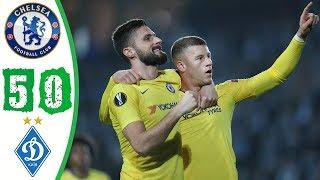 ملخص اهداف مباراة تشيلسي ودينامو كييف 5-0 - خماسية نارية - الدوري الاوروبي HD