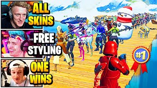 Streamers Host ULTIMATE Solo Freestyle SKIN CONTEST | Fortnite Daily Funny Moments Ep.506