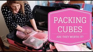 PACKING CUBES - ARE THEY WORTH IT? / COME PACK WITH ME