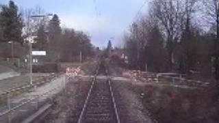 preview picture of video 'Führerstandsmitfahrt S-Bahn München (Hohenschäftlarn - Baierbrunn)'
