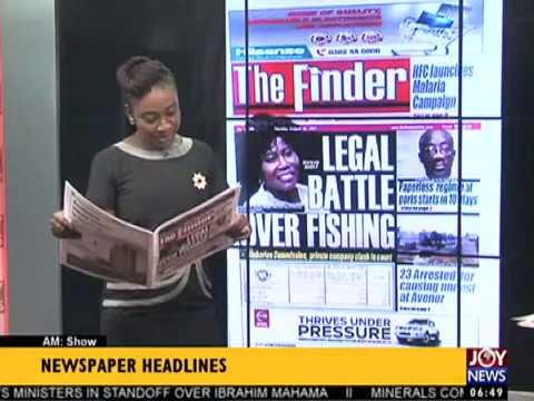AM Show Newspaper Headlines on JoyNews (22-8-17)