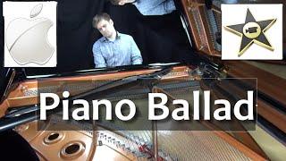 Piano Ballad from Apple iMovie - live recording plus sheet music