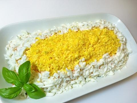 Салат МИМОЗА Диетический.   Mimosa Salad Diet .