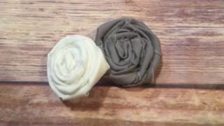 Everyday Crafting: Easy Rustic Rolled Fabric Flowers