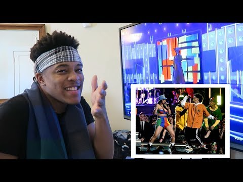 Bruno Mars & Cardi B - Finesse (LIVE from the 60th Grammys) | REACTION