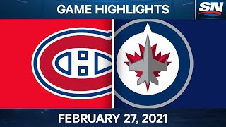 NHL Game Highlights | Canadiens vs. Jets - Feb. 27, 2021 by Sportsnet Canada