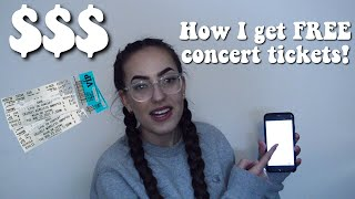 HOW I GET FREE/CHEAP CONCERT TICKETS! | how to finesse tickets to every concert!