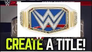 WWE 2K16 CAW FORMULA SMACKDOWN WOMEN'S CHAMPIONSHIP