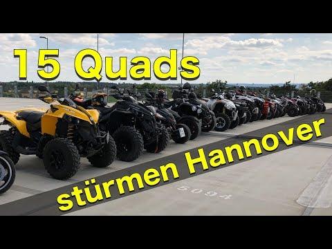 15 Quads stürmen Hannover / Quad-Vlog ToxiQtime