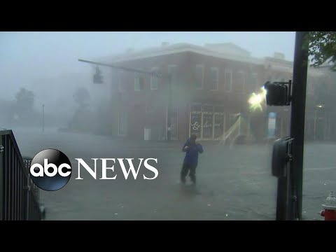 Streets flood in Pensacola as Hurricane Sally crawls through the Gulf