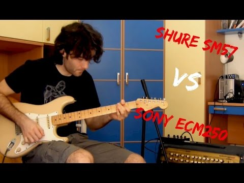 Shure sm57 VS Vintage Sony Ecm250 - Guitar test