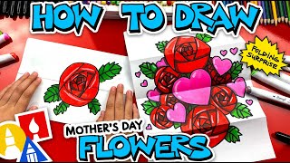 How To Draw Mother's Day Flowers Folding Surprise