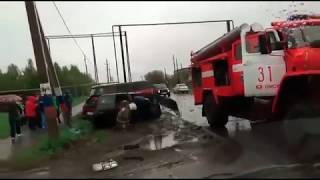 Последствия ДТП в Дружино Омск 16 05 2017