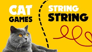LITTLE STRING STRING on screen for cats ★ CAT GAMES