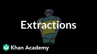 Extractions | Chemical processes | MCAT | Khan Academy