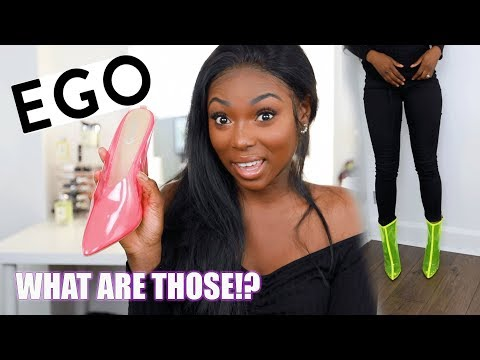 TRYING SHOES FROM THE INTERNET! EGO SHOES WHAT ARE THOSE!!!