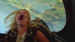 FUNNY: Terrified reporter learns to fly a plane