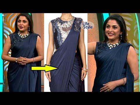 Ramya Krishna Bigg Boss Saree | Ready to Wear One Minute Sarees Collection | Lifestyle TV