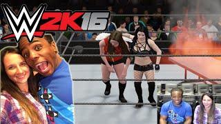 WWE 2K16 Created Diva Gameplay Video - w/Xavier Woods