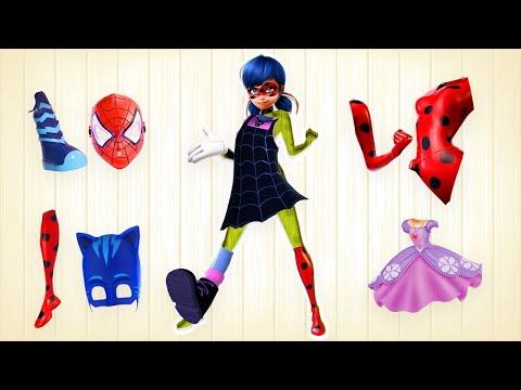 Ladybug Wrong Blocks Puzzles Elsa Vampirina Color Learning Kids Rhymes!| ToToKids TV| ToToKids TV