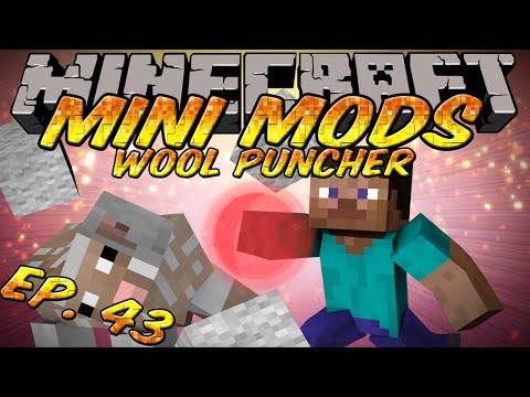 Minecraft Mini Mods Ep 43 - Wool Puncher Mod - Punch Sheep for Wool again!