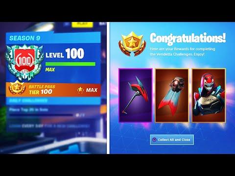 unlocking max vendetta fortnite season 9 tier 100 skin level 100 grind fortnite - fortnite season 9 skins vendetta