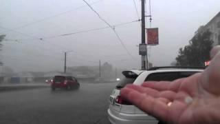 Дождь с градом в Усолье-Сибирском 24 июня 2014