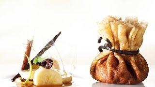 Roger van Damme Desserts - Pannenkoeken met vanille-ijs en gekaramelliseerde bananen