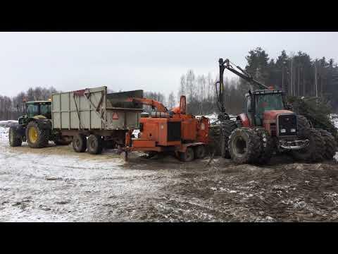 Utylizacja drewna w km 1+500
