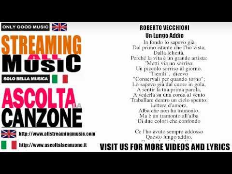 Roberto Vecchioni - Un Lungo Addio (Lyrics / Testo)