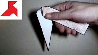 Как сделать раскладной складной нож из бумаги А4 своими руками?