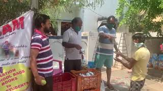 Covid 19 - Distributed 800 satvik meals to the needy people at Saidabad, Hyderabad