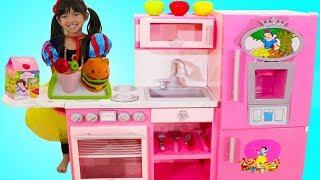 Emma Pretend Play W/ Disney Princess Snow White Pink Kitchen Toy Kids Play Set