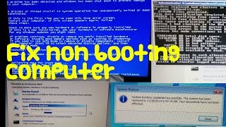 How to fix a computer that won't boot into Windows