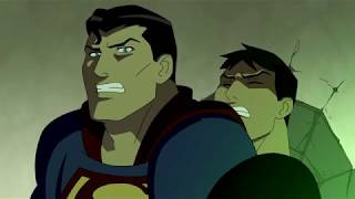 The Justice League Vs The Team - The Original Team - Young Justice Fights